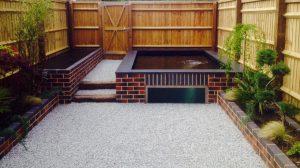 Modern brick pond